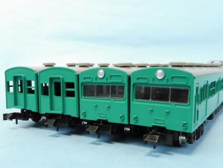 Nゲージ,103系 一般形4両セット(エメラルドグリーン)
